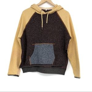 GIlLDED INTENT Color Blocked Hooded Sweatshirt XS